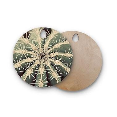 East Urban Home Angie Turner Birchwood Cactus Plant Cutting Board; Round