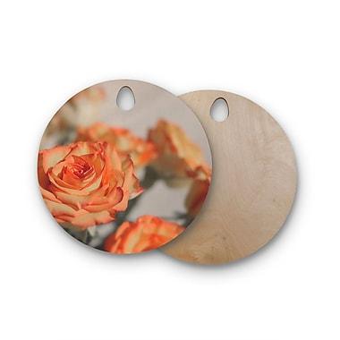 East Urban Home Angie Turner Birchwood Roses Cutting Board; Round