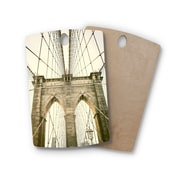 East Urban Home Ann Barnes Birchwood Brooklyn Bridge Sunset Photography Cutting Board; Rectangle