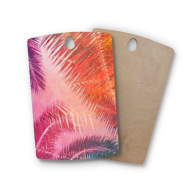 East Urban Home Cafelab Birchwood Pop Tropical Abstract Cutting Board; Rectangle