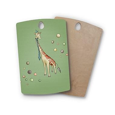 East Urban Home Carina Povarchik Birchwood Giraffe Cutting Board; Rectangle