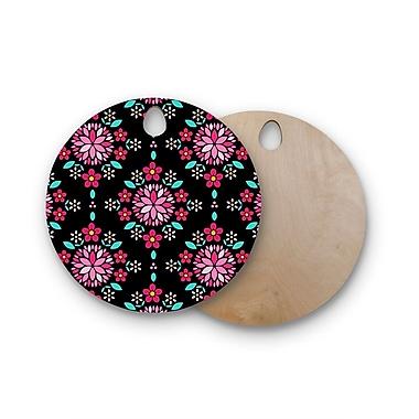 East Urban Home Anneline Sophia Birchwood Dahlia Mandala Cutting Board; Round