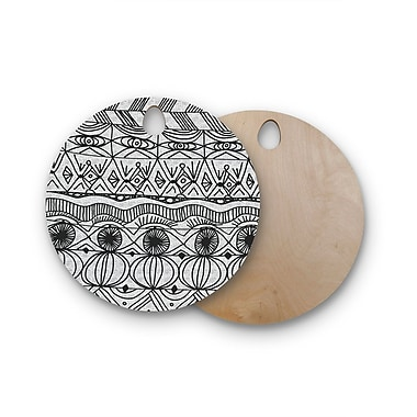 East Urban Home Catherine Holcombe Birchwood Blanket of Confusion Cutting Board; Round