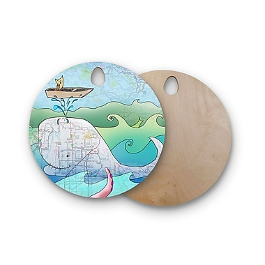 East Urban Home Catherine Holcombe Birchwood I'm on A Boat Cutting Board; Round