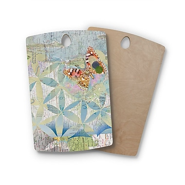 East Urban Home Catherine Holcombe Birchwood Miraculous Recovery Butterfly Cutting Board; Rectangle