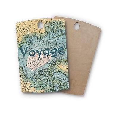East Urban Home Catherine Holcombe Birchwood Voyage Map Cutting Board; Rectangle