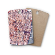 East Urban Home Alison Coxon Birchwood City of London Map Cutting Board; Rectangle