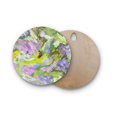 East Urban Home Alison Coxon Birchwood Giverny Lilac Cutting Board; Round