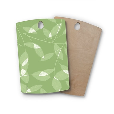 East Urban Home Alison Coxon Birchwood Leaf Cutting Board; Rectangle