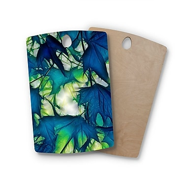 East Urban Home Alison Coxon Birchwood Leaves Cutting Board; Rectangle