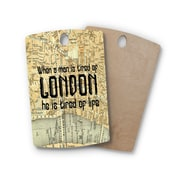 East Urban Home Alison Coxon Birchwood London Type Map Cutting Board; Rectangle