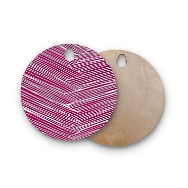 East Urban Home Anchobee Birchwood Loom Cutting Board; Round