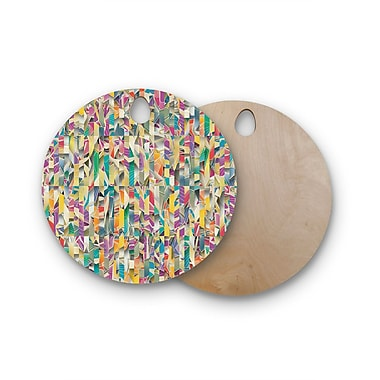 East Urban Home Angelo Cerantola Birchwood Feel It Pattern Cutting Board; Round