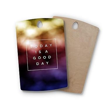 East Urban Home Galaxy Eyes Birchwood Good Day Rainbow Cutting Board; Rectangle