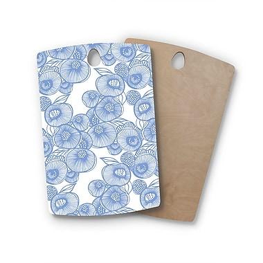 East Urban Home Gill Eggleston Birchwood Fenella Floral Cutting Board; Rectangle