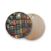 East Urban Home Ginkelmier Birchwood Rusted License Plates Cutting Board; Round