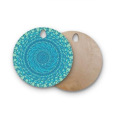 East Urban Home Patternmuse Birchwood Mandala Spin Cutting Board; Round