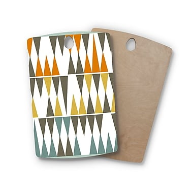 East Urban Home Pellerina Design Birchwood Diamond Kilim Triangles Cutting Board; Rectangle
