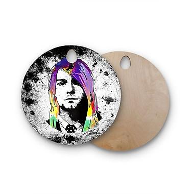 East Urban Home Ivan Joh Birchwood Grunge Pop Art Lavender Cutting Board; Round