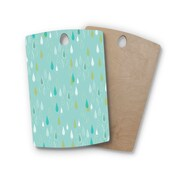 East Urban Home Bridgette Burton Birchwood Feathe Rain Cutting Board; Rectangle