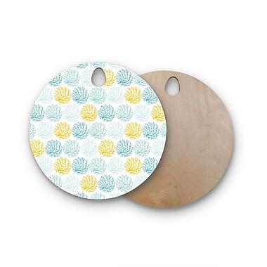 East Urban Home Anchobee Birchwood Coralina Cutting Board; Round