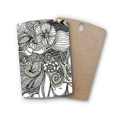 East Urban Home Anchobee Birchwood Doodle Dos Cutting Board; Rectangle