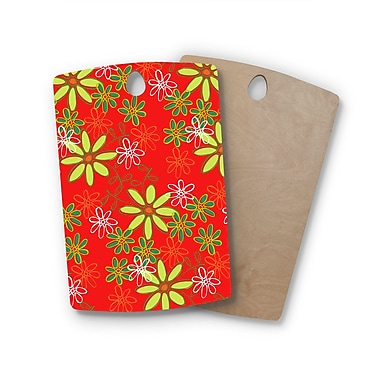 East Urban Home Holly Helgeson Birchwood Daisy Mae Floral Cutting Board; Rectangle