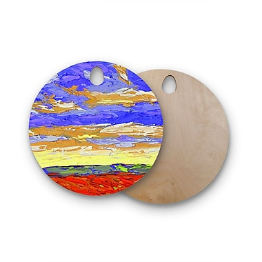 East Urban Home Jeff Ferst Birchwood After the Storm Cutting Board; Round
