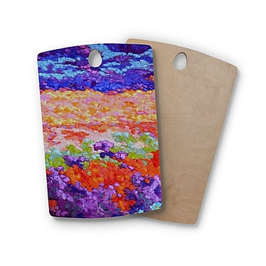 East Urban Home Jeff Ferst Birchwood Earthly Delights Floral Abstract Cutting Board; Rectangle