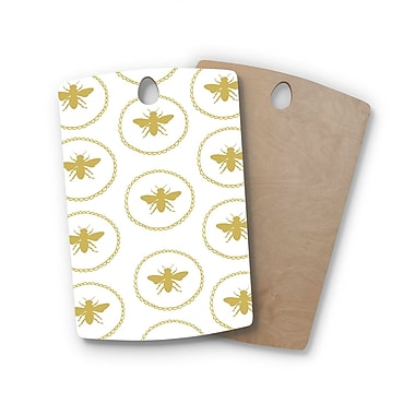 East Urban Home Jennifer Rizzo Birchwood Busy As A Bee and Maize Nature Cutting Board; Rectangle