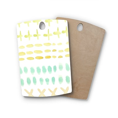 East Urban Home Jennifer Rizzo Birchwood Dots and Dashes Cutting Board; Rectangle