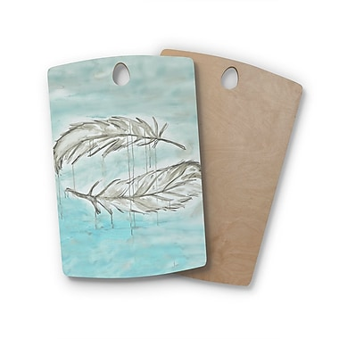 East Urban Home Jennifer Rizzo Birchwood Feathers From Above Painting Cutting Board; Rectangle