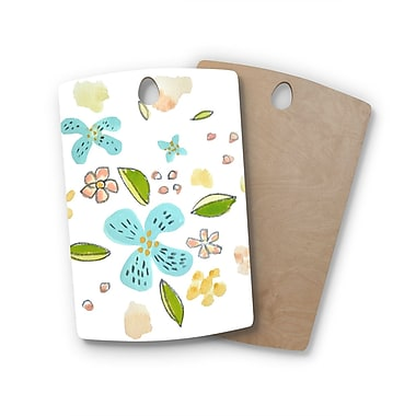 East Urban Home Jennifer Rizzo Birchwood Happy Flower Dance Floral Cutting Board; Rectangle