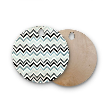 East Urban Home Heidi Jennings Birchwood Chevron Cutting Board; Round