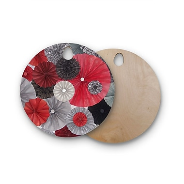 East Urban Home Heidi Jennings Birchwood Kyoto Cutting Board; Round