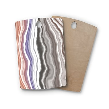 East Urban Home Birchwood Iris Lake Bed Geological Abstract Cutting Board; Rectangle