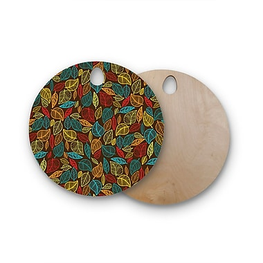 East Urban Home Birchwood Leaves All Around Cutting Board; Round