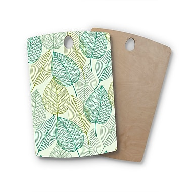 East Urban Home Birchwood Make Like A Tree Pattern Cutting Board; Rectangle