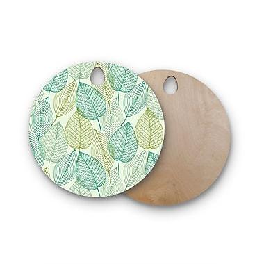 East Urban Home Birchwood Make Like A Tree Pattern Cutting Board; Round