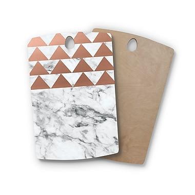 East Urban Home , Rectangle: 16' x 10.5' Birchwood Marble & Metal Cutting Board; Round