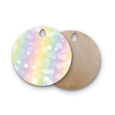 East Urban Home Birchwood Prism Rainbow Bokeh Cutting Board; Round
