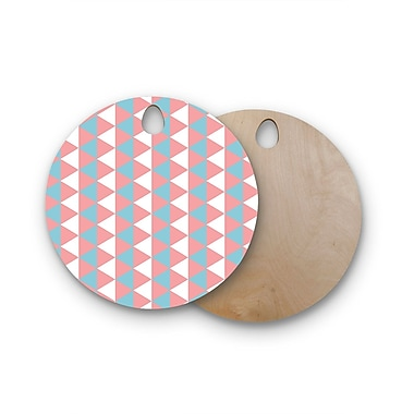 East Urban Home Birchwood Be Still Cutting Board; Round