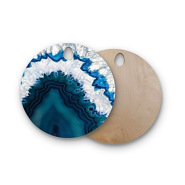 East Urban Home Birchwood Blue Geode Nature Photography Cutting Board; Round