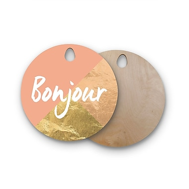 East Urban Home Birchwood Bonjour Cutting Board; Round