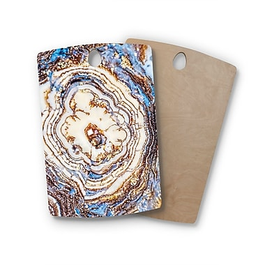 East Urban Home Birchwood Marble & Metal Cutting Board; Rectangle