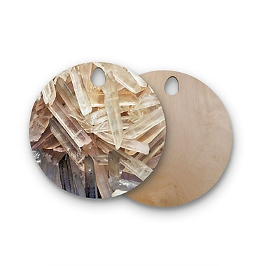 East Urban Home Birchwood Crystal Cluster Cutting Board; Round