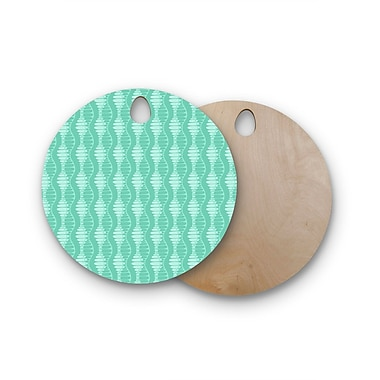 East Urban Home Holly Helgeson Birchwood Mod Waves Pattern Cutting Board; Round