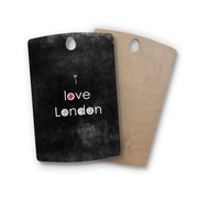 East Urban Home Ingrid Beddoes Birchwood I Love London Grundge Cutting Board; Rectangle