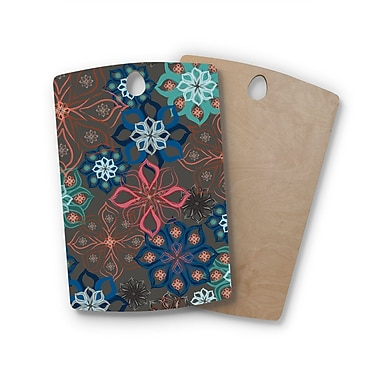 East Urban Home Jolene Heckman Birchwood Floral Arrangements Flowers Cutting Board; Rectangle