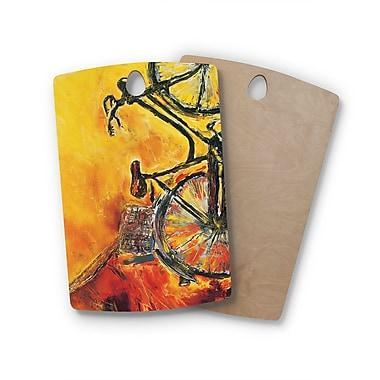 East Urban Home Josh Serafin Birchwood to Go Bicycle Cutting Board; Rectangle